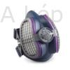 Kép 1/3 - Légszűrő maszk, félárarc Miller LPR-100 HALF MASK, cserélhető HEPA+aktívszenes szűrőbetéttel M/L méretű (ML00895)
