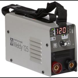 Heg. inverter Parweld Premiumweld Weldy 125 MMA/Lift-TIG,(120A-40%) Dinse 10-25,test és munkakábellel 2 kg, WELDY125