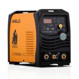 Heg. inverter IWELD GORILLA SUPERTIG 200 AC/DC (200A@60%) 4fm-es SR 26  AVI pisztollyal,munka kábelekkel, Akciós!