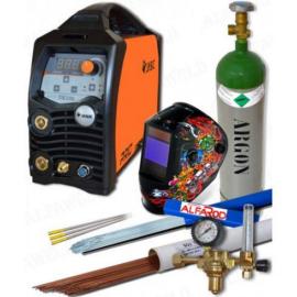 Heg. inverter JASIC ProTIG 200 hegsztőcsomag (W207) (Ar palack,fejpajzs,reduktor,AVI pálcák,Volfram elektródák,munka-,testkábel)