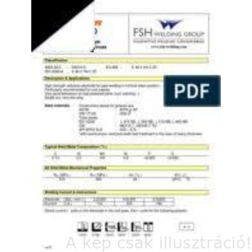Öntvény NiFe-Ci-A/Bimetal 2,5x350mm, 5 kg/cs, 62szál/kg (AWS A 5.15 : ENiFe-CI DIN 8573 : E NiFe-1 BG 21)  FSH-Selectarc, bontjuk is!