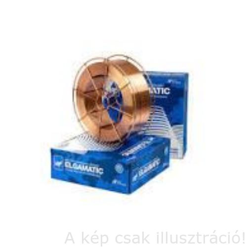 SG2 (G3Si1) Elgamatic 100 1.0mm 18 kg/cséve hegesztőhuzal Elga, BS300 fémkosáron, prcíziós tekercselés 95152210