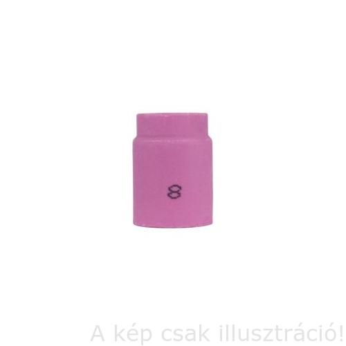 Kerámia gázterelő SR9/17/18/20/26 8-as 12,7×25,5mm, 53N61S rövíd gázlencséhez Iweld 8401P201404