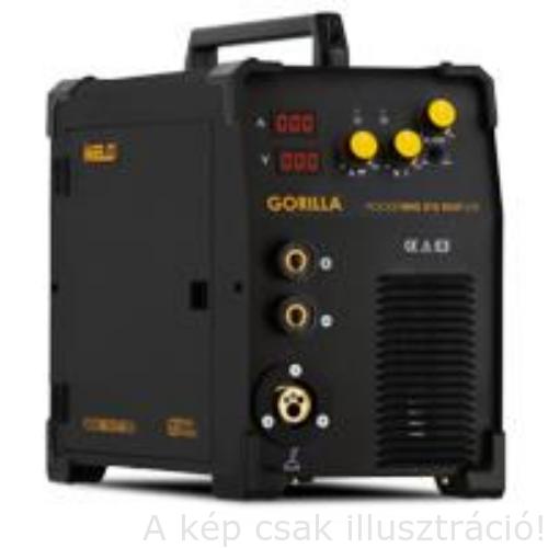 MIG/MAG Heg. gép Iweld Gorilla Poc.MIG215 ALUFLUX (MIG/MMA 2 funkciós 230V,(15kg-os D=300mm tekercsre is) (200A-60%,MIG pisztoly,kábelek)