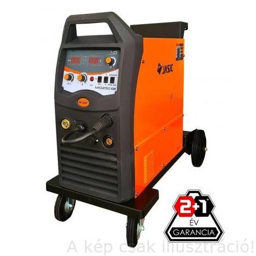 MIG/MAG Heg. gép Jasic MIG 250 (N270), inverteres, 4m-es hegesztőpsiztollyal, 50-250A/60%Bi 4 kerékkel, 26kg Akciós!