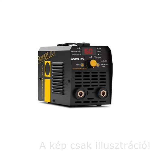 Heg. inverter IWELD Gorilla PocketPower 170 (155A-60%Bi) test és munka kábelekkel műa. kofferben