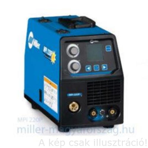 Miller MPI220P kompakt, több funkciós (Szinergikus MIG impulzus, AVI, BKI) inverteres hegesztőgép,test és munkakábel,230 V,200 A/35% ,16kg
