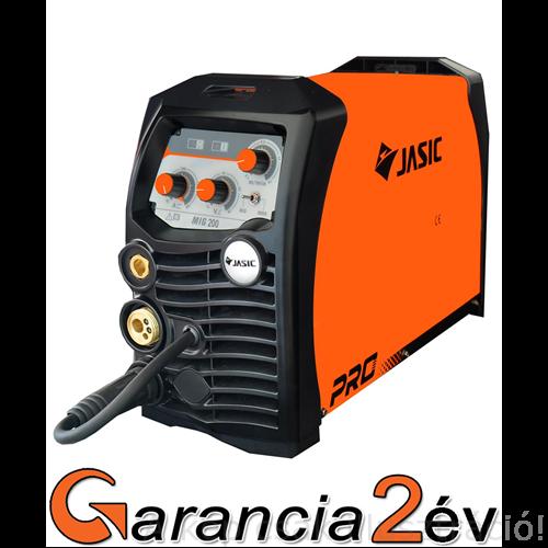 MIG/MAG Heg. gép Jasic ProMIG 200 (N220) inverteres, önvédő porbeles is-MMA hegesztőgép,200A/40%, 20-200A,test és munkakábelekkel