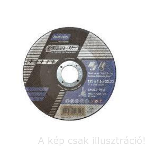 230x1,9mm vágókorong 'Norton QUANTUM ZA46ZZ-BF41 fém (INOX) Kék 25db/csomag  35010271