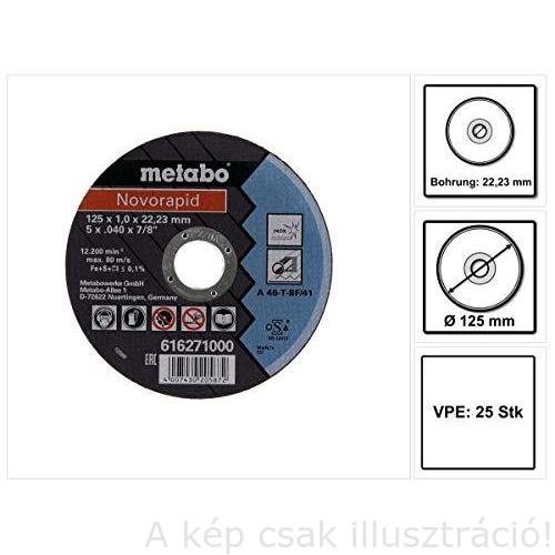 115x1,0x22,23 vágókorong Metabo Novorapid Inox A46T-BF41 10db/csomag 616909000