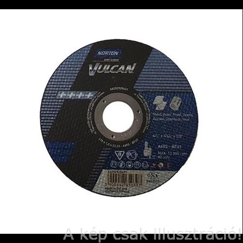 125x1,0mm vágókorong 'Norton Vulcan' acél-inox, kék (A60S-BF41) 50db/cs.,35010131