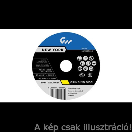 125x6,5 mm Tisztítókorong Acélhoz G-Wendt New York, 10db/csomag W270178