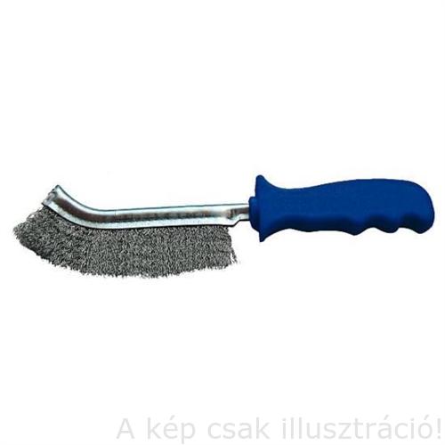 Drót kézikefe Inox=rozsdamentes egysoros zöld műanyag mark SPEED 275 SMC FG, Fast Grinder 12233700