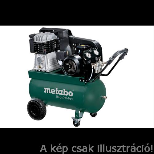 METABO kompresszor Mega 700-90 D 90l, 4kW, 11bar