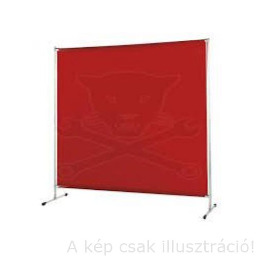 Hegesztéshez paraván Cepro Gazelle 200x200cm, piros színben a tartós műanyag lap,fémkerettel 244.20.02.3