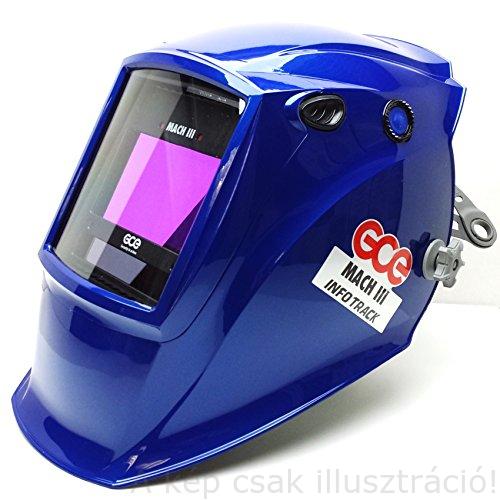 Hegesztő fejpajzs automata 'OTOS' MACH III, 97x60 színes látómező, DIN 5/9-13,TIG/AVI,vágás,csiszolás,4 érzékelős,GCE AD010001