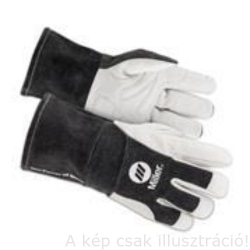 Hegesztő kesztyű MIG/MAG/MMA  HD MIG/STICK Miller 271877 sötét szürke mandzsetta bőr L/10,5-es
