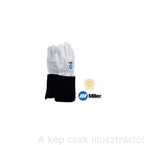 Hegesztő kesztyű AVI Miller, hosszú fekete mandzsetta finom kecskebőr tenyér és marhabőr kézfej, 10-es