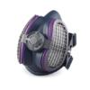 Kép 3/3 - Légszűrő maszk, félárarc Miller LPR-100 HALF MASK, cserélhető HEPA szűrővel M/L méretű ML00895; Opció: rendelhető még aktívszenes szűrőbetét