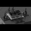 Kép 12/14 - Vector Dragon hegesztő leszorító asztal VS-WT Lv8mm 28mm furatok 1500x1400x8mm 4db lábbal