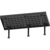 Kép 2/14 - Vector Dragon hegesztő asztal VS-WT Lv6mm 16mm-es furatokkal 2400x1000x6mm 6db lábbal