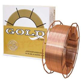 SG2 (EN440:G3Si1) 1,0mm 15kg/cs. hegesztőhuzal, precíziós, K300-as fémkosáron GOLD 242.004