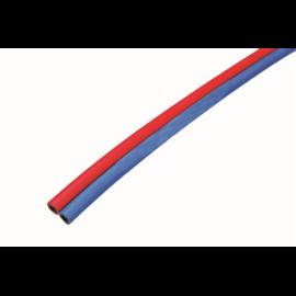 Tömlő iker Ac./Ox. 9,0x3,0/6,0x3,5mm, Semperit= extraflexibilis/ gumis (25m/tekercs)    GCE   272333169025