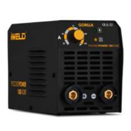 Heg. inverter Iweld Gorilla PocketPower150 (140A-60%Bi) test és munka kábelekkel műa. kofferben, 80POCPWR150+ 2,5kg elektróda