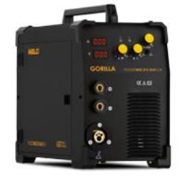 MIG/MAG Heg. gép Iweld GORILLA POCKETMIG 215 ALUFLUX (MIG/MMA funkc.230V±15%,300mm cséve,200A-60%,MIG pisztoly,3+3m kábelek)+ 5kg elektóda