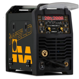 MIG/MAG Heg. gép Iweld GORILLA POCKETMIG 235 DP Synergic (230V,210A@60%,kistekercses dob),kábelekkel  800MIG235DP+Ajándék 5kg elektróda