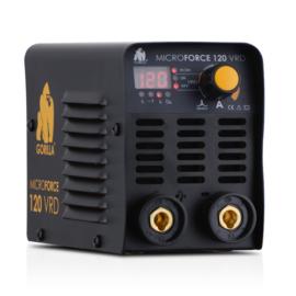 Heg. inverter IWELD GORILLA MICROFORCE 120 VRD (110A-60%Bi,230V±15%) test és munka kábelekkel,+2kg 2,5mm elektróda 80MROFRC120