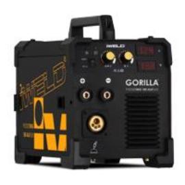 MIG/MAG Heg. gép Iweld GORILLA POCKETMIG 185 AluFlux(MIG/BKI),230V,(5kg/d200,Bi:170A-60%)3m-es pisztoly,test és munkakábelekkel,5kg elektóda