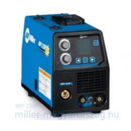 Miller MPI220P kompakt, több funk.(Szinergikus MIG impulzus, AVI, BKI) inv. hegesztőgép,test és munkakábel,230 V,200 A/35% ,16kg  059016014