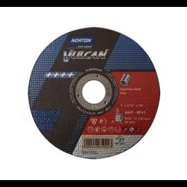 125x1,0mm vágókorong Norton Vulcan piros (A60T-BF41) Inox (110db/csomag) 35010065