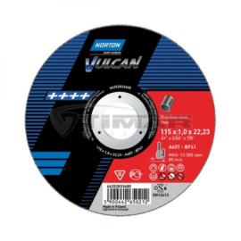 125x2,5mm vágókorong 'Norton Vulcan' Acél, Inox, kék (A30S-BF41) 25db/cs.(35010150)