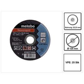 115x1,0x22,23mm vágókorong Metabo Novorapid  Inox (H) 616909000 10db/cs., Akciós áron!