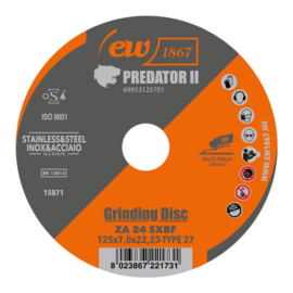 125x7,0x22.23mm Type 27 Tisztítókorong Predator II ZA 24 SXBF (ew1867) 25db/csomag FEIN 69953125701
