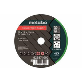 76x1,0x10mm  Metabo Flexiarapid Super vágókorong Inox (5db/cs.) 626870000