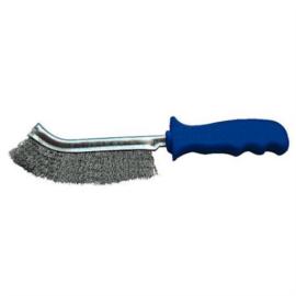 Drót kézikefe Inox=rozsdamentes egysoros kék műanyag 250mm Z-TOOLS Spid