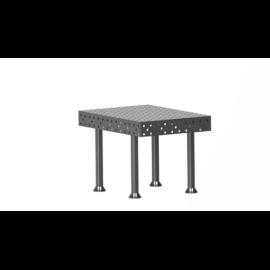 Vector Dragon hegesztő asztal VS-WT Lv6mm 16mm-es furatokkal 1400x1400x6mm 4db lábbal