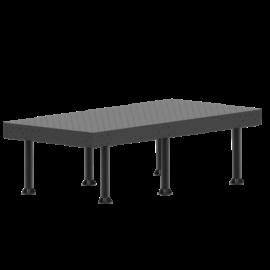 Vector Dragon hegesztő leszorító asztal VS-WT Lv8mm 28mm furatok 2400x1400x8mm 6db lábbal