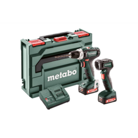 METABO PowerMaxx BS12 fúrócsavarozó Set 2db12V/2,0Ah Li-Power akku+ULA LED akkus lámpa,táska,SC30 töltő(601036900)