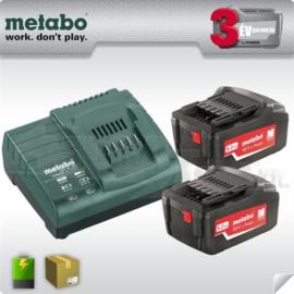 METABO Akkus alapkészlet 2x18V/5,2 Ah LiPower akku+ ASC 145 töltő (685051000)