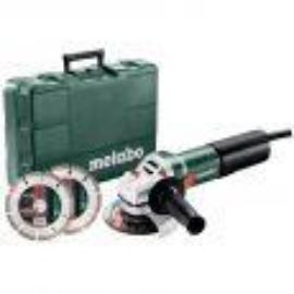 METABO WEQ 1400-125 mm 1400W Set sarokcsiszoló 2db gyémántvágótárcsával, hordtáskával  600347510 Akciós!