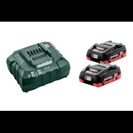 METABO Akkus alapkészlet 2x18V/4,0 Ah LiHD, CAS akku+ ASC 55 töltő 685174000