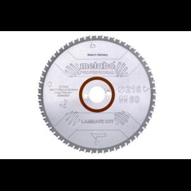"""METABO fűrészlap tárcsa """"laminate cut - professional"""", 216x30 Z60 FZ/TZ 0° laminált padlóhoz 628442000"""