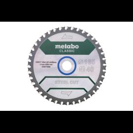 """METABO fűrészlap tárcsa """"SteelCutClassic""""165x20 Z40 FZFA/FZFA 4° fémre 628273000"""