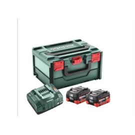 METABO Akkus alapkészlet 2x18V/10 Ah LiHD akku+ ASC 145 töltő+metaBOX 685142000