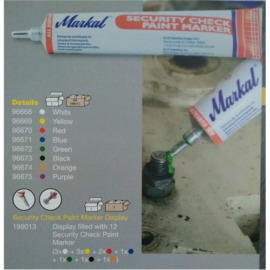 Jelölő festék Markal Security Check Paint Marker narancs (50m/tubus) 96674
