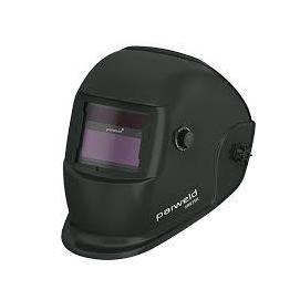 Hegesztő fejpajzs automata PARWELD WH1 DIN 9-13, két érzékelő,köszörülésre is, solarelem és gombelem, fekete